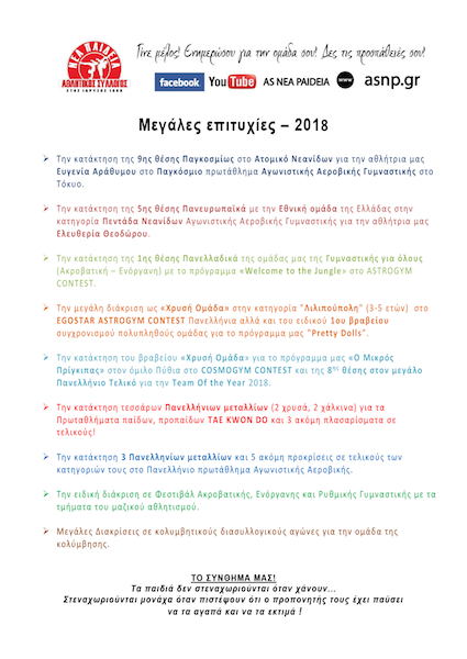 epityxies fylladio 2018